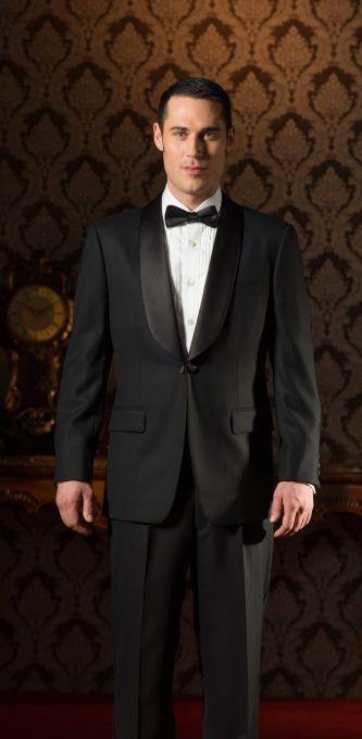 classic tuxedo suit black tie shawl lapel