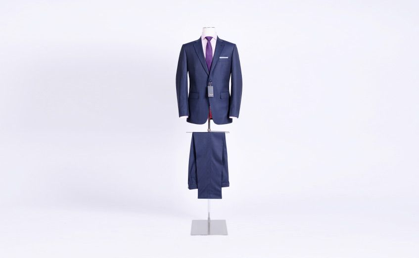 Loro Piana Four Season Super 130's 100% Wool Single-Breasted 2-Buttons Notch Lapels Flap Pockets