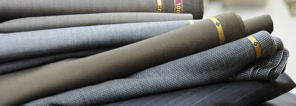 Fabric Weight Fabric Bolts Rolls Grey Navy Check 980x350