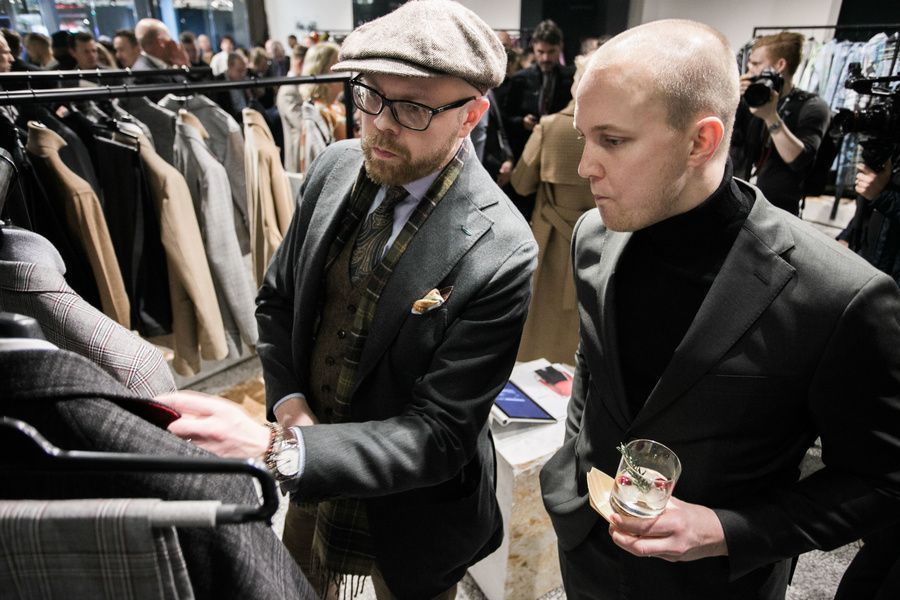 Pitti Immagine Uomo Norway style fashion suit showroom event