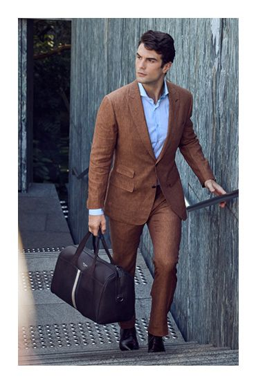 spring style photoshoot uros senszio bespoke brown linen suit jacket fashion