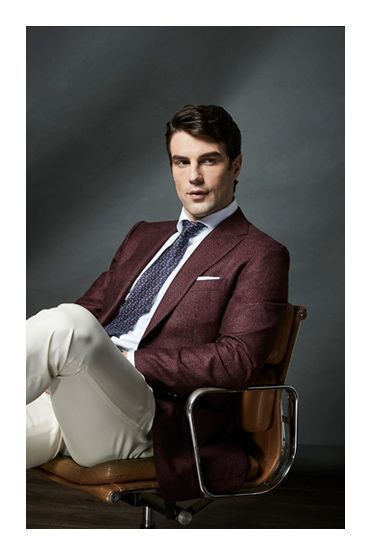 spring style photoshoot uros senszio bespoke burgundy suit jacket fashion