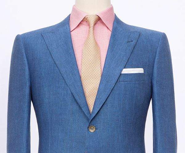 Suit Lapel Styles Peak Lapel Style Blue Jacket Wool Linen