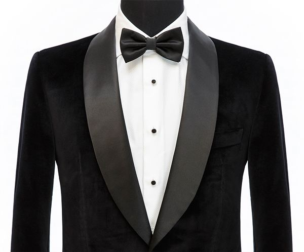 Suit Lapel Styles Shawl Lapel Style Tuxedo Jacket Bow Tie Senszio