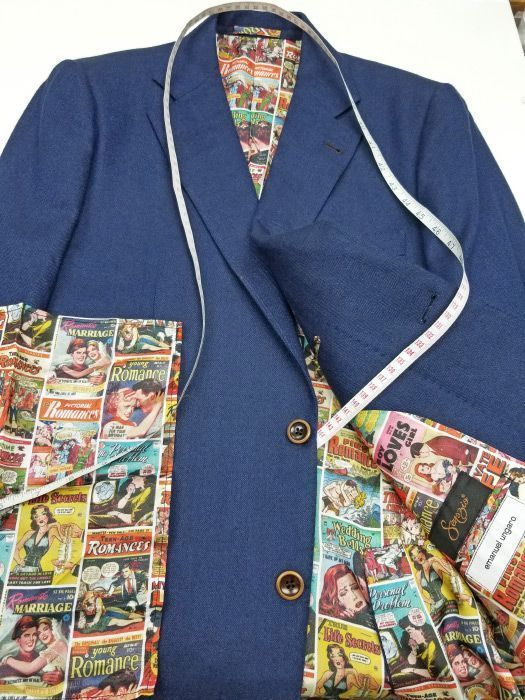 Suit Liner Style Design Color Pattern Bespoke Custom Customize Romance Comics 525x700