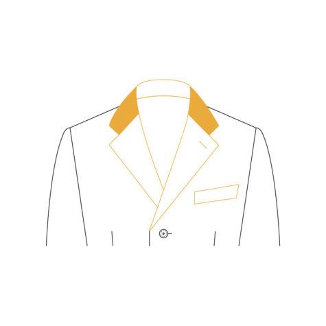 Senzio Garment Finals V1 Coat Collar Contrast Suede