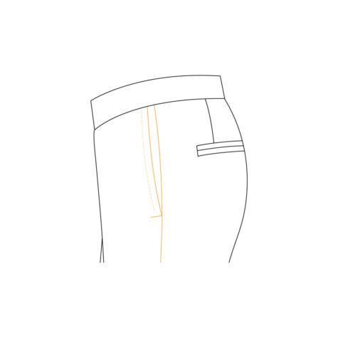 Senzio Garment Finals V2 Tuxedo Trouser Plain