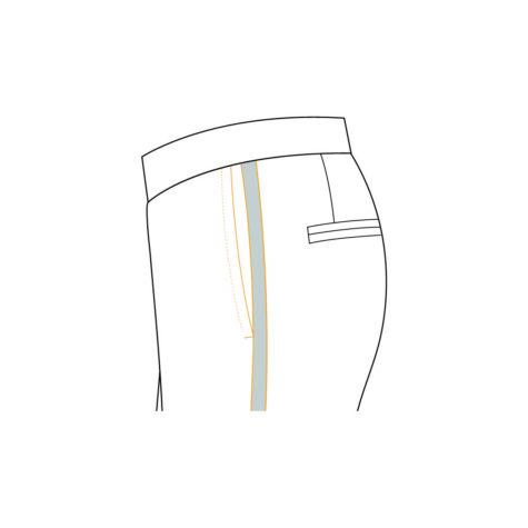 Senzio Garment Finals V2 Tuxedo Trouser Plain And Formal