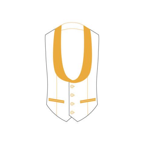 Senzio Garment Finals V2 Tuxedo Waistcoat Style 1