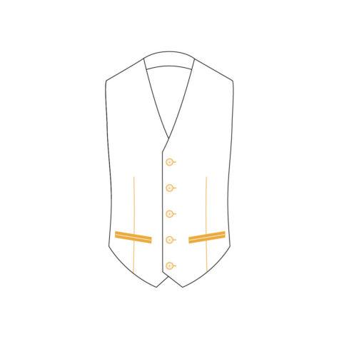 Senzio Garment Finals V2 Tuxedo Waistcoat Style 2