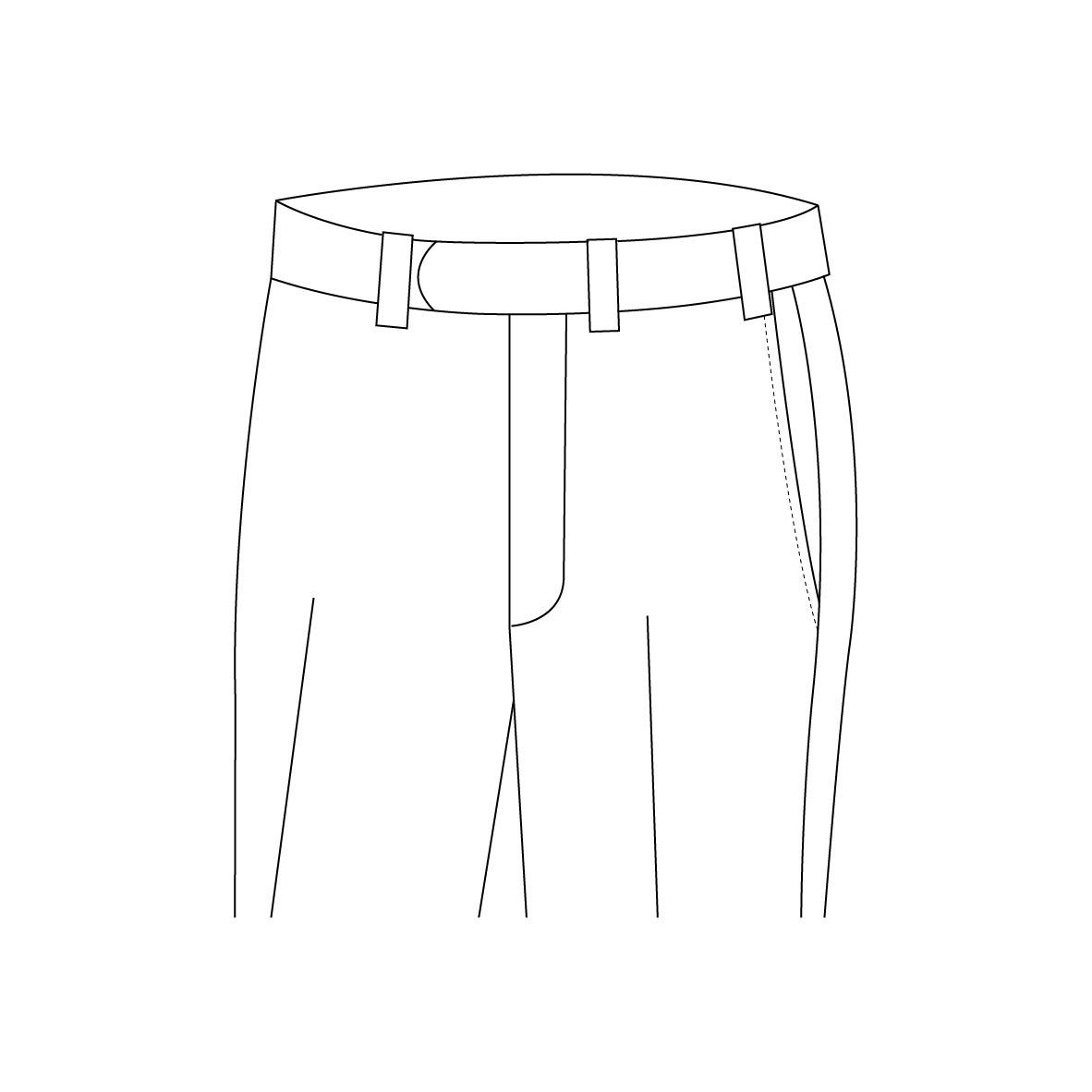 Senzio Garment Finals V1 Trouser Style Belt Loops Without Button Closure