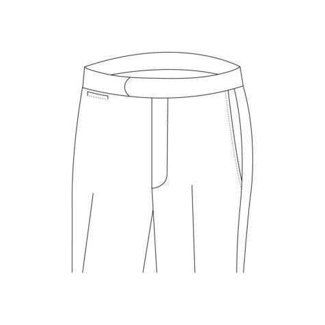 Senzio Garment Finals V1 Trouser Style Buckle Strap Without Button Closure