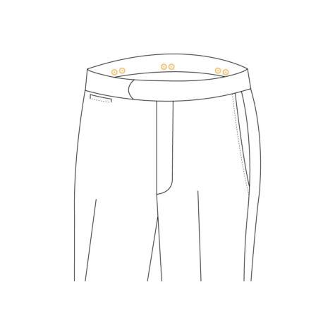Senzio Garment Finals V1 Trouser Style Suspender Buttons
