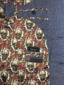 Suit Liner Style Design Color Pattern Bespoke Custom Customize Skulls Roses 525x700